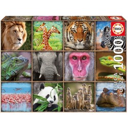 17656 Wild Animals Collage...
