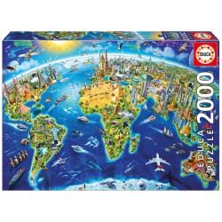 17129 World Landmarks Globe...