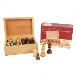 H308 Staunton Wood Chessmen