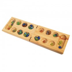 100213 Wood Mancala