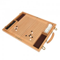 837 Deluxe Wood Go Game Set