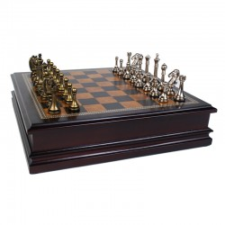 985 Metal Chessmen with...