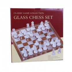 3005G Etched Glass Chess Set