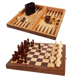 100728 Walnut Wood 3-in-1...