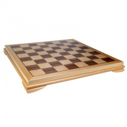 100856 Wood Inlay Chessboard