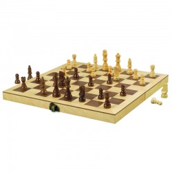 "A400 12"" Wood Chess Set"
