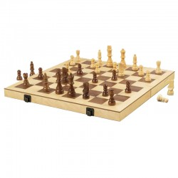 "A500 16"" Wood Chess Set"