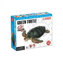 26544 4D Puzzle Green Turtle