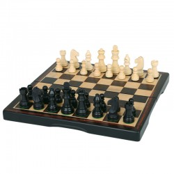 "104937 15"" Ebony Wood Chess..."