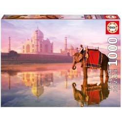 16756 Elephant At Taj Mahal...